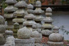 Small stone pagoda in Japan Royalty Free Stock Photos