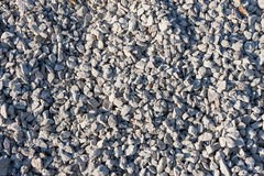 Small stones on  construction site Royalty Free Stock Photography