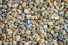 Small stones gravel texture. Naturally pebble textured background. Garden decor Stock Image