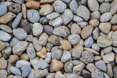 Small stones gravel texture. Naturally pebble textured background. Garden decor Royalty Free Stock Image