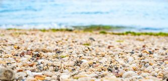 Small Stones on sea beach royalty free stock images