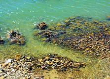 Stones and Tyrrhenian sea, natural background in Elba island Royalty Free Stock Photos