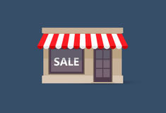 Small store with sale sign Stock Photography