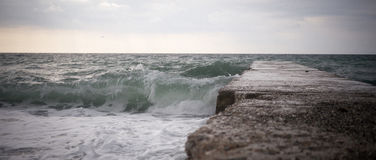 Small storm on the coast of the Black Sea Royalty Free Stock Images