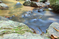 A small stream  with long exposure Stock Photo