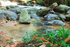 A small stream  with long exposure Stock Photos