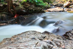 A small stream  with long exposure Stock Photography