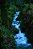 Small waterfall stream stock photos