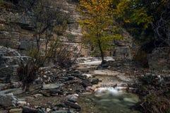 Small stream at the Rogovo natural pools Greece. NZagori,Zagorochoria Greece Europe Stock Images