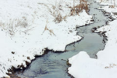 Small stream in winter Stock Image