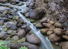Small streams and cobblestone close-up! Stock Photography