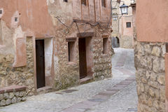 Small street in albarracin Royalty Free Stock Photography