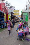 Small street along Sukhumvit road, Bangkok stock photos