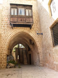 Small street in ancient Yaffo, Israel Royalty Free Stock Photo