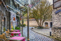 Small street in Belgium town Durbuy Royalty Free Stock Photo