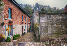 Small street in Belgium town Durbuy Royalty Free Stock Photography