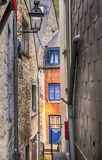 Small street in Belgium town Durbuy Stock Photo