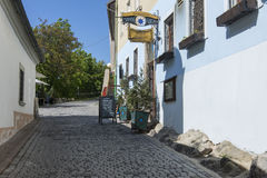 Small street in Bratislava`s downtown hill Royalty Free Stock Photography