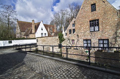 A small street in Bruges, Belgium. Royalty Free Stock Photo