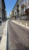 Small street in Budapest Royalty Free Stock Images