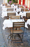 Small street cafe Stock Images