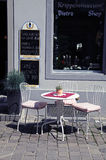 Small street cafe, Switzerland Stock Photography