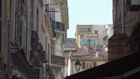 Small street in Cannes stock video