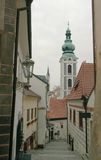 Small street in Cesky Krumlov Stock Images