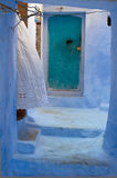 Small street in Chefchaouen Royalty Free Stock Photo