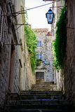 A small street of Dubrovnik Stock Photo