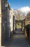 Small street in historic town Royalty Free Stock Photo