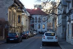 Small Street In Bucharest Royalty Free Stock Photo