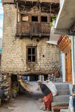 Small street in Leh, India Royalty Free Stock Photography