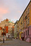 Small street in Lublin, Poland Stock Photography