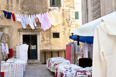 Small street market - Dubrovnik. Stock Images