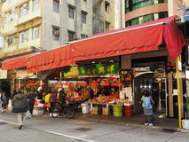 Small street market in Hong Kong Stock Image