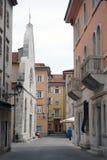 Small Street Near Catholic Church Royalty Free Stock Photos