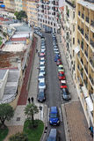 Small street of Nice city. Small street of Nice city with lot of cars Stock Photos