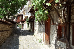Small street in old Nessebar town. Stock Image