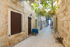 Small street in Pag Stock Images