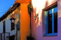 Small street in Plaka Stock Image