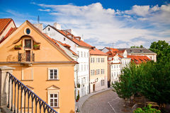 Small Street In Prague Royalty Free Stock Photos