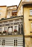 Small Street - Prague. A small skinny street detail in the old town area of Prague, Czech Republic Royalty Free Stock Image