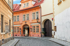 Small street of Prague. Royalty Free Stock Photo