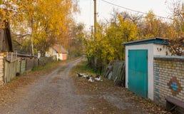 Small street in remote Ukrainian village Stock Image