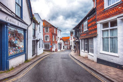 Small street in Rye, Sussex , UK Royalty Free Stock Photos