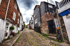 Small street in Rye, Sussex , UK Stock Images