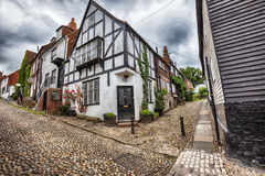 Small street in Rye, Sussex , UK Stock Photos