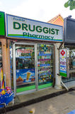 Small street Pharmacy shop in the Thai style. Royalty Free Stock Photography