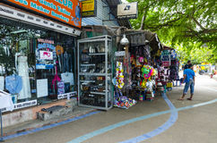 Small street gear shop in the Thai style. Royalty Free Stock Photography